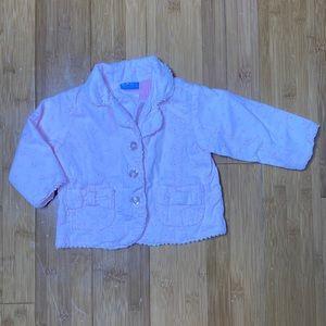 Baby Headquarters eyelet jacket pink 12M